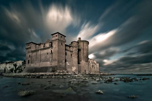 Castello di Santa Severa,lunghe esposizioni,mare,nuvole,tramonto,big stopper