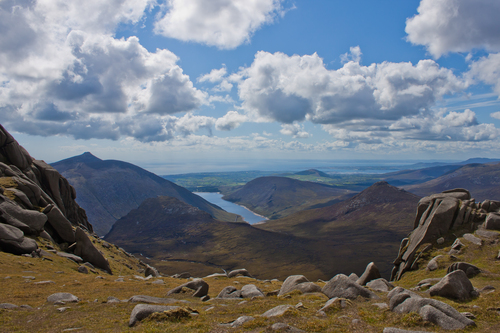 View from Slieve Bearnagh towards Ben Crom Reservoir
