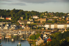 A fleet of yachts in the lovely Cork village of Kinsale.