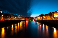 This picture was taken from Grattan Bridge on Dublin's River Liffey.