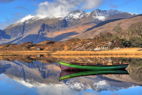 Early morning stillness on the Upper Lake, Killarney
