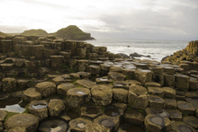 The Giants Causeway, a geological feature of the Antrim Coast.