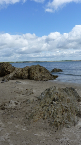 rocks on the beach at Fethard on sea co.wexford