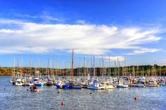 Photo taken of the boats docked in Kinsale harbour on a lovely, sunny spring morning.