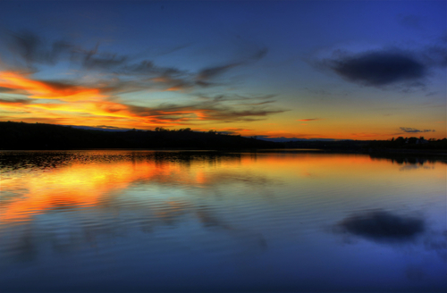 Photo taken of the beautiful sunset, on the Bandon River in Kinsale.