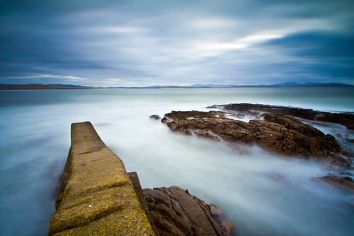 pier at meenacross, county donegal
