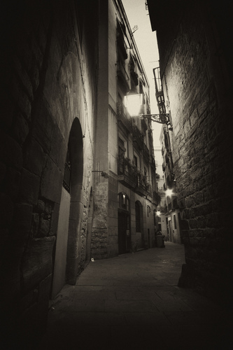Gothic district of Barcelona, Spain