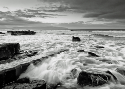 Image taken at Castlerock Beach during a Winter sunset. Cstlerock is a tiny village on the north coast of Ireland which looks straight across to the coast of  Donegal A long exposure using GND Filters