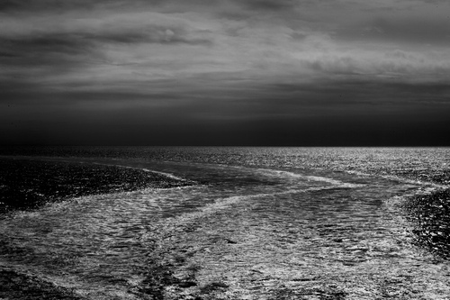 Somewhere in the Irish sea,