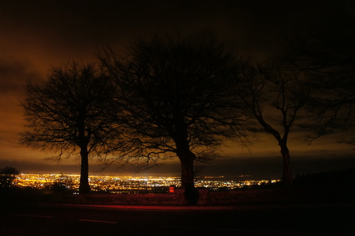 "This was shot up at ""viewpoint"" on Kilakee rd in the Dublin Mountains"