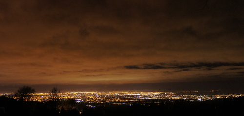 "Clouds from The Dublin Mountains at Night taken from ""Viewpoint"""