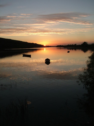 Sunset on the River Suir at Fiddown in County Kilkenny.