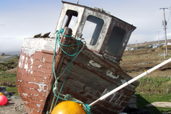 This derelict fishing boat caught my eye driving around the West of Ireland. Can't remember where exactly it was, but have a feeling it was somewhere around Achill Island.