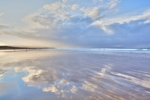 Late afternoon reflection on Portstewart Strand as the tide retreats.
