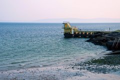Lone figure taking in the view.. Blackrock Diving Platform.. Salthill.. Galway