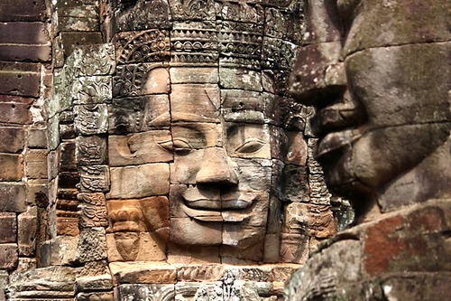 The smiling faces at Bayon temple, Angkor Wat