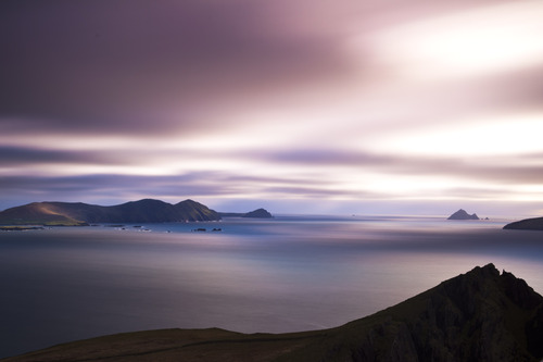 Sitting on Sybil Head looking over the Blasket islands