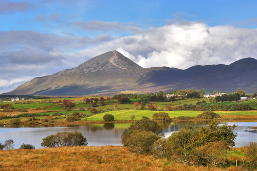 Croagh Patrick, Ireland's holy mountain attracts thousands of pilgrims each year.