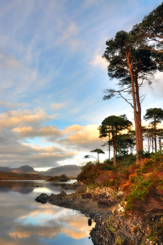 This island is located on Derryclare Lake in Connemara, This shot came 2nd in the Met Eireann photography competition 2011
