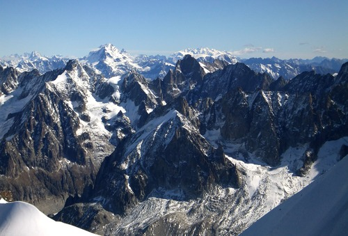 The French Alps, photo taken close to Mont Blanc.