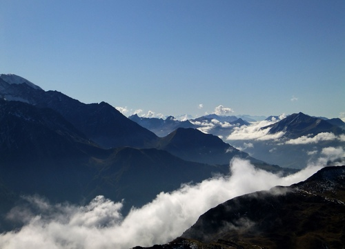 View from a hike, French Alps