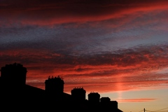 Sunset from my kitchen roof Stoneybatter