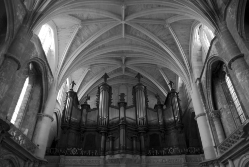 The organ in Bordeaux Cathederal.