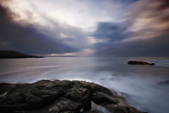 A long exposure taken from Ramore head towards Doneal