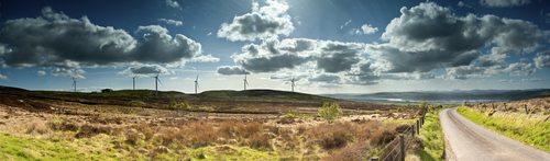 A lovely new windfarm situated near Straban, in the distance you can see Mt Errigal