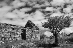 Famine cottage in Connemara.