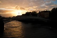 Sunset at the Ha'Penny Bridge, Dublin.