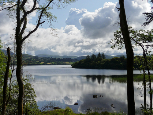 The lovely still waters of Lake Eske in County Donegal, Ireland one late afternoon in July.