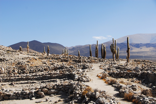 An ancient path at the Incan ruins of Santa Rosa de Tastil.