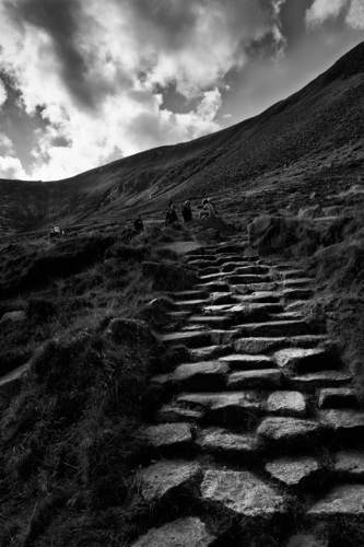 The path to Slieve Donard, Mourne Mountains, Co.Down.