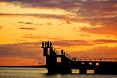 Blackrock diving platform at sunset.. Salthill, Galway