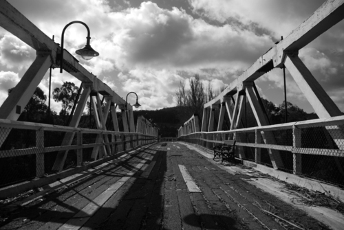 An old wooden bridge near the town of Orbost, Victoria.