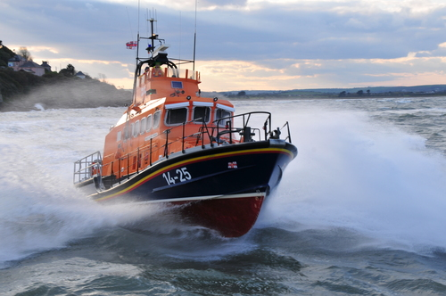 Ballycotton Co Cork lifeboat on exercise