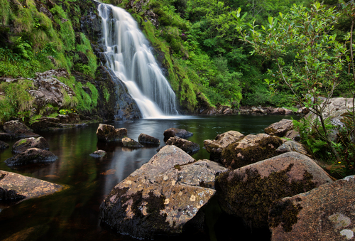 Assaranca waterfall in Co Donegall.
