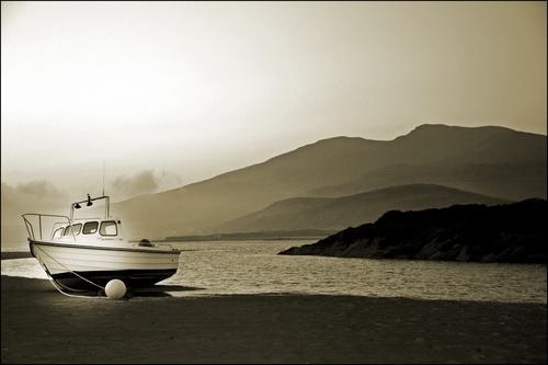 Just before sunrise on Cappagh beach.