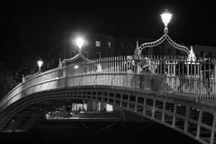 Halpenny Bridge at Night