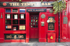 Famous Red Temple Bar Pub, Dublin City, Ireland