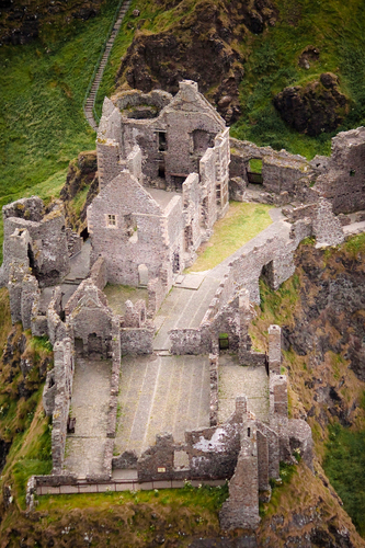Dunluce Castle taken from microlight
