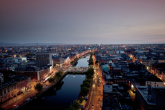Dublin city looking west