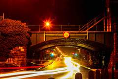 A long exposure of the traffic passing under the railway bridge at Lough Atalia in Galway. Many people visiting Galway from around Ireland would have passed under this bridge on their way into the city.