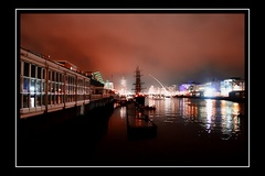 Taken looking down the Liffey towards the Docks with the Tall Ships in the background.