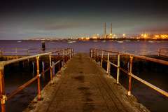 Poolbeg power station from Clontarf