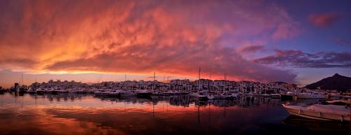 Sunset over Puerto Banus