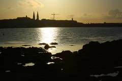 Summer's evening in Sandycove Co.Dublin looking towards the Town of Dun Laoire .