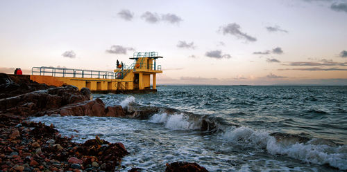 Diving Platform at Salthill, Galway.. Ireland