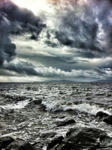 Angry Sea in Salthill